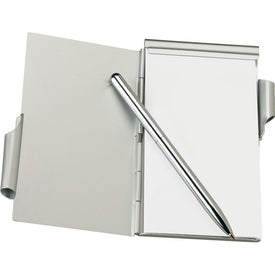 Aluminum Jotter Pad with Pen Branded with Your Logo
