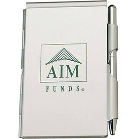 Aluminum Jotter Pad with Pen