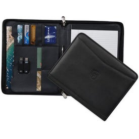 Ambassador Zippered Leather Padfolio