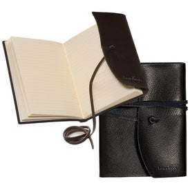 Americana Leather-Wrapped Journal Branded with Your Logo