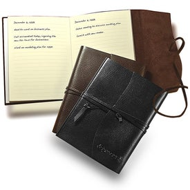 Americana Leather-Wrapped Journal Imprinted with Your Logo