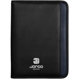 Aspire Zippered Padfolio Printed with Your Logo