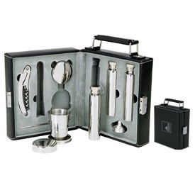Attache II Bar and Flask Set
