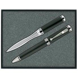 Printed Ballpoint Pen/Letter Opener Gift Set