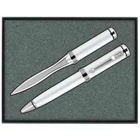 Company Ballpoint Pen/Letter Opener Gift Set