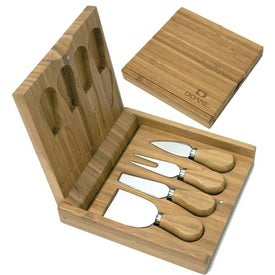 Promotional Bamboo Cheese Set for your School