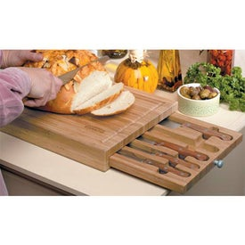 Branded Bamboo Cutting Board with Knives