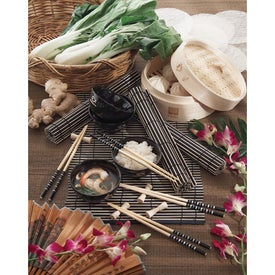 Imprinted Bamboo Steamer Set