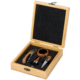 Square Bamboo Wine Gift Set