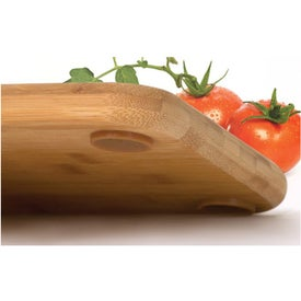 Bamboo Cutting Board w/Rubber Grips Branded with Your Logo