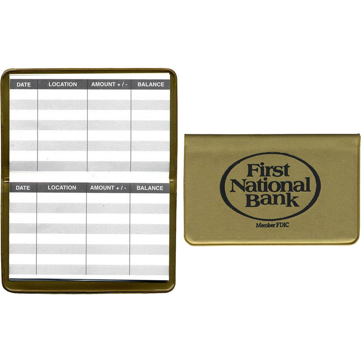 bank register card custom office items ea. Black Bedroom Furniture Sets. Home Design Ideas