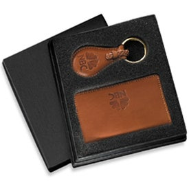 Imprinted Barclay Leather Gift Set