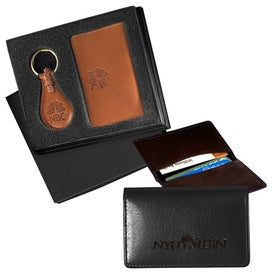 Monogrammed Barclay Leather Gift Set