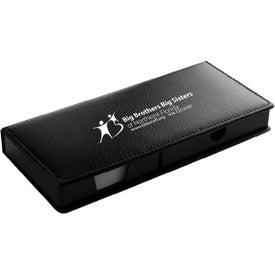 "Black Leatherette PVC Cover Memo Gift Set (9"")"