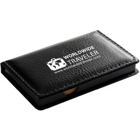 "Black Leatherette PVC Cover Memo Gift Set (5.25"")"