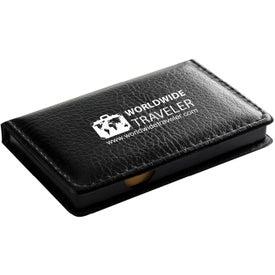 "Black Leatherette PVC Cover Memo Gift Set (5.25"")"