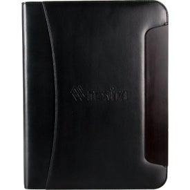 Customized BlackWood Zippered Padfolio
