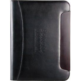Branded BlackWood Zippered Writing Pad