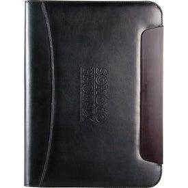 Branded BlackWood Zippered Writing Pad