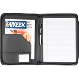 BlackWood Zippered Writing Pad for Your Church