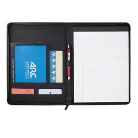 Boomerang Zippered Padfolio Printed with Your Logo