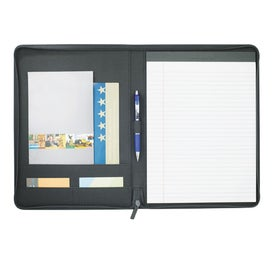 Boomerang Zippered Padfolio with Your Logo