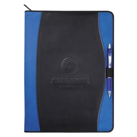 Boomerang Zippered Padfolio