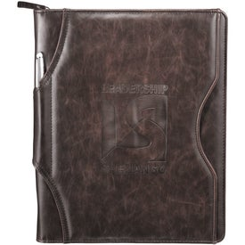 Brixen Zippered Padfolio with Your Slogan