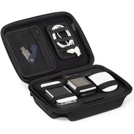 Monogrammed Brookstone Charged Up Cable Organizer Kit