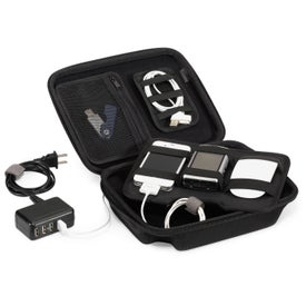 Brookstone Charged Up Cable Organizer Kit for Marketing