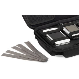 Brookstone Charged Up Cable Organizer Kit Imprinted with Your Logo