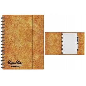 Brown Spiral Journal for Customization