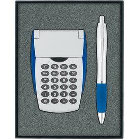 Calculator/Ballpoint Pen Gift Set with Your Slogan