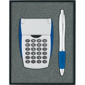 Calculator/Ballpoint Pen Gift Set with Your Slogan