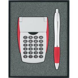 Calculator/Ballpoint Pen Gift Set for Marketing