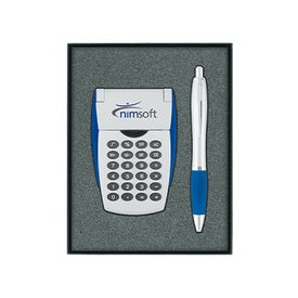 Calculator/Ballpoint Pen Gift Set
