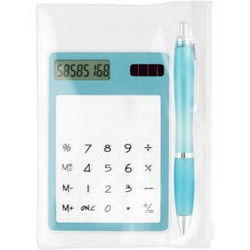 Calculator/Ballpoint Gift Set Branded with Your Logo