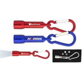 Carabiner LED Flashlight Gift Box