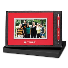 Carousel Ballpoint and Photo Frame Set Printed with Your Logo
