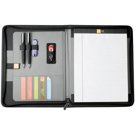 Imprinted Case Logic Conversion Zippered Padfolio for iPad