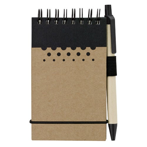 Tan / Black Chou Mini Jotter and Pen