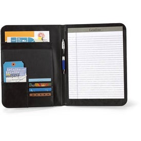 Branded Cityscape Leather Writing Pad