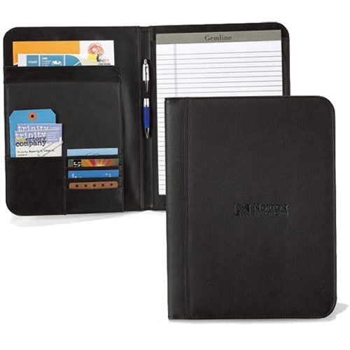 Black Cityscape Leather Writing Pad