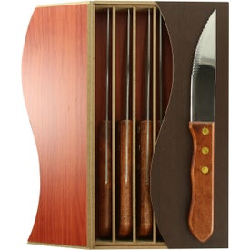 Personalized Clair Steak Knife Set