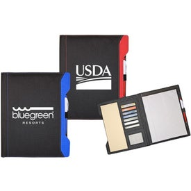 Color Accent Folio Printed with Your Logo