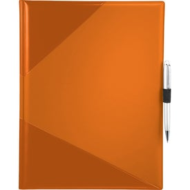 Monogrammed Color Step Padfolio