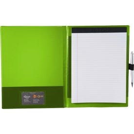 Imprinted Color Step Padfolio