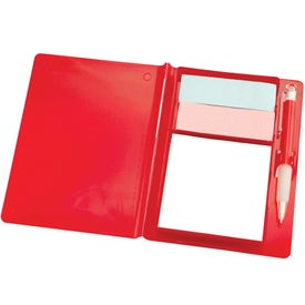 Logo Compact Flag And Notepad Holder With Pen