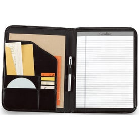 Imprinted Contemporary Leather Writing Pad