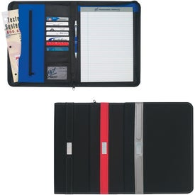 "Contemporary Zippered Portfolio ( 8 1/2"" x 11"")"